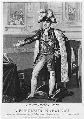 The ''Champ de Mai'' or Emperor Napoleon I swearing fidelity to the Constitutions on 1st June 1815