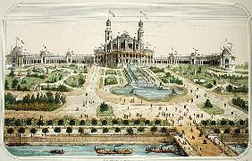 The Palais du Trocadero at the Exposition Universelle in Paris in 1878