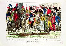 The People of Paris Acclaiming Napoleon (1769-1821) on his Return from Elba in 1815