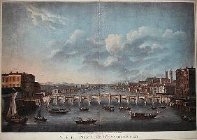 Vue du Pont de Westminster'', looking westward, from an original Picture in the Cabinet of Monsr T.M