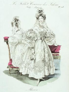 Wedding dress, from ''Le Follet Courrier des Salons Modes''
