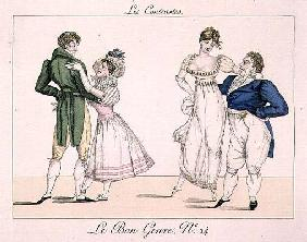 The Contrasts, plate 24 from 'Le Bon Genre', 1811 (engraving)