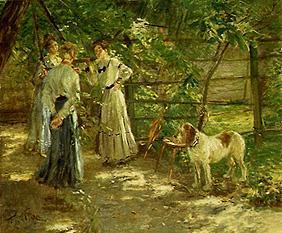 The daughters in the garden
