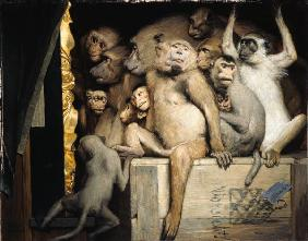 Monkeys as art critics um 1889