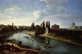 View of the River Tiber in Rome, from the north