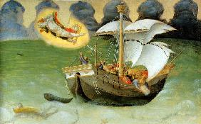 St Nicolas Rescues the Ship from the Tempest (from the Polyptych Quartesi)