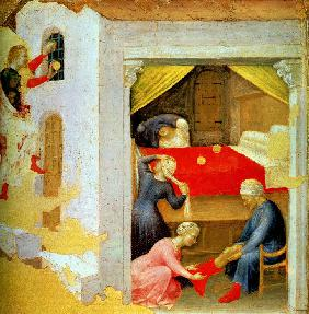 The dowry for the three virgins (from the Polyptych Quartesi)