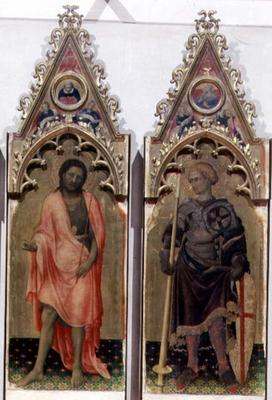 Two saints from the Quaratesi Polyptych: St. John the Baptist and St. George 1425 (tempera on panel)