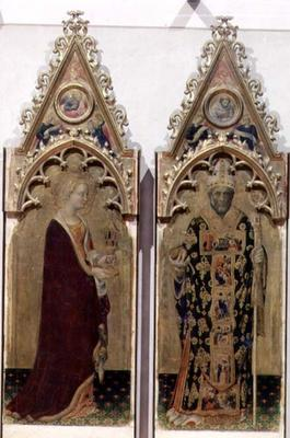 Two saints from the Quaratesi Polyptych: St. Mary Magdalen and St. Nicholas 1425 (tempera on panel)