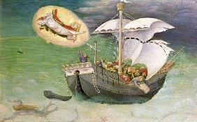 St. Nicholas Saves a Ship from Wreckage, predella panel from the Quaratesi Altarpiece