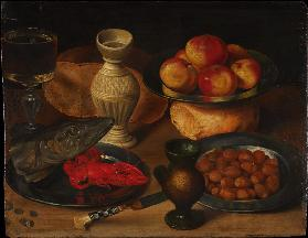 Still Life with Pike's Head and Hazelnuts