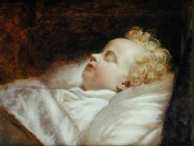 Young Frederick Asleep at Last c.1855