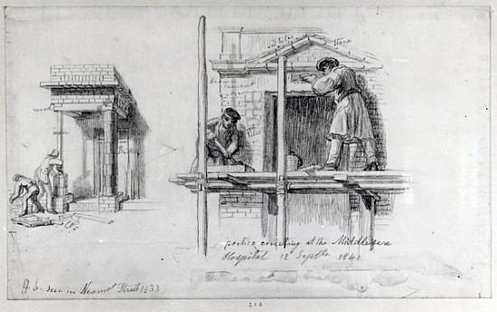 Erecting porticos at newham street and m george the for Portico dello schermo prefabbricato