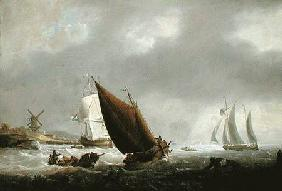 Shipping off a Dutch Estuary