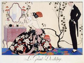 The Backless Dress, engraved by Henri Reidel, 1920 (colour litho)