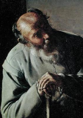 An Old Man, detail of the head