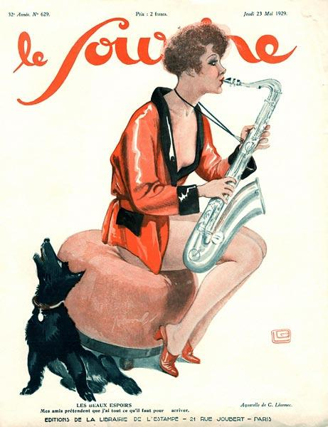 Front cover of ''Le Sourire'', 1929 (colour litho)