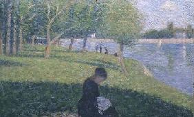 The seamstress, or Sunday at the Grande Jatte, study for 'A Sunday Afternoon on the Island of La Gra
