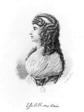 Charlotte von Stein, born von Schardt, late 18th century-early 19th century; engraved by G. Wolf