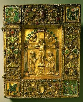 Gospel Cover, Ottonian, Germany, 11th century (gold, enamel and semi-precious stones)