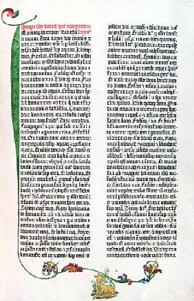 The Gutenberg Bible, Mainz c.1450-55