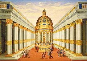 Act I, scenes VII and VIII: Baccus'' Temple