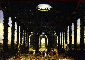 Act III, scenes XI and XIII: garden in the form of a pavillion