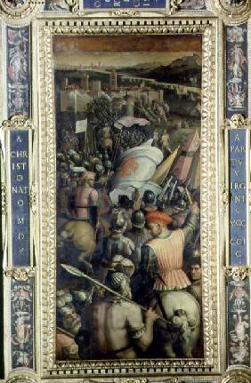 The Capture of Cascina from the ceiling of the Salone dei Cinquecento