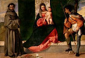 The virgin with the child between the hll. Rochus and Antonius.