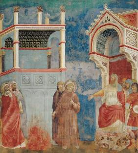 The Trial by Fire, St. Francis offers to walk through fire, to convert the Sultan of Egypt in 1219