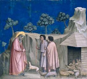 Joachim and shepherds / Giotto / 1303/10