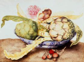 G.Garzoni / Bowl of Artichokes / c.1650