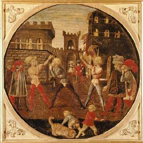 The Game of Civettino (tempera on panel)