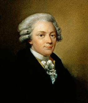 Portrait of the Composer Wolfgang Amadeus Mozart (1759-91)