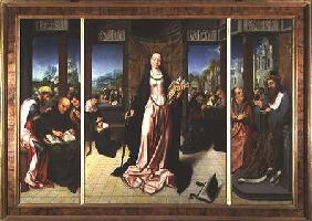 St. Catherine and the Philosophers (panel)