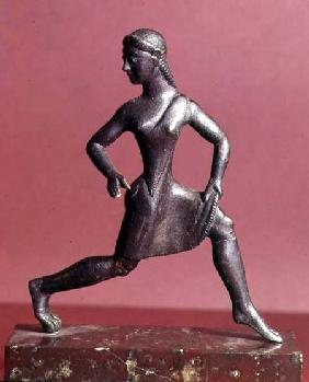 Figurine of a girl running