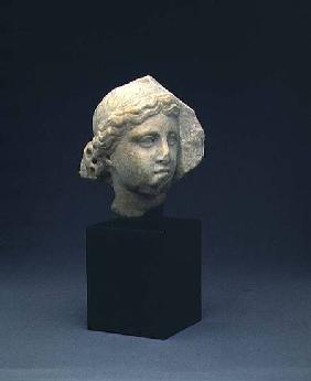 Head of a woman from a funerary reliefClassical Period