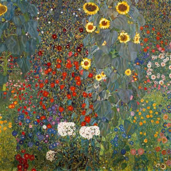 Giardino di campagna con girasoli - quadro di Gustav Klimt
