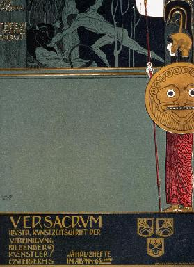 Cover of 'Ver Sacrum', the journal of the Viennese Secession, depicting Theseus and the Minotaur, at