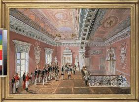 Changing of the Guard in the Pavlovsk Palace at the time of Paul I