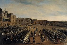 Parade at the time of Emperor Paul I (1754-1801) 1847