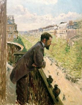Man on a Balcony