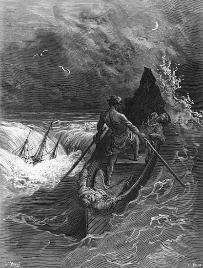a description of the incantations of the supernatural in rime of the ancient mariner