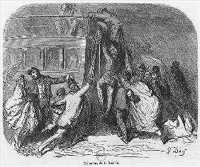 The Bastille omnibus, illustration from ''Le Nouveau Paris'' Emile Gigault de La Bedolliere (1812-83