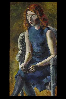 Young Woman in a Wicker Chair