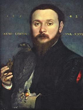 Nobleman with a falcon