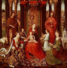 The mystical wedding of the St. Katharina.Madonna, both of Johannes, Katharina, angel
