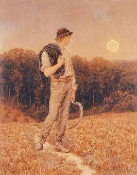 The Harvest Moon, 'globed in mellow splendour'