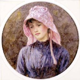 Portrait of a Girl in a Pink Bonnet
