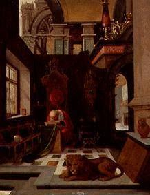 The St. Hieronymus in an interior